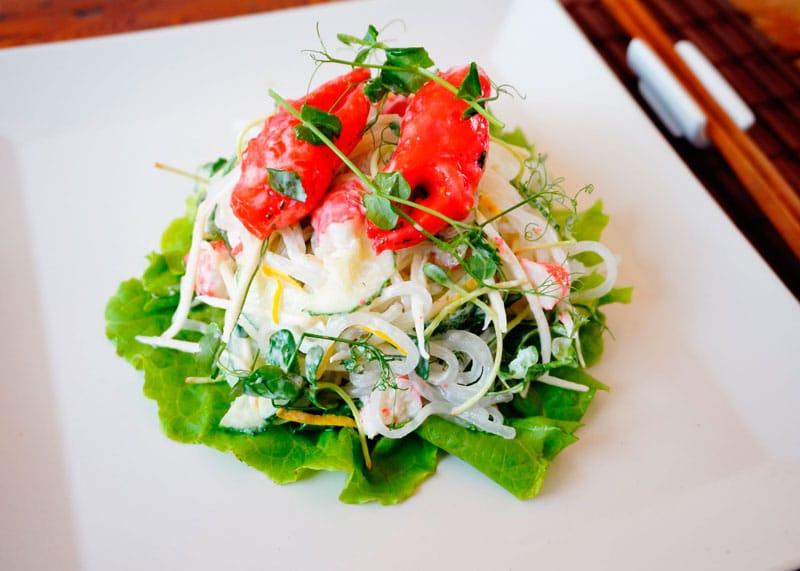 Японский салат с крабовым мясом рецепт фото