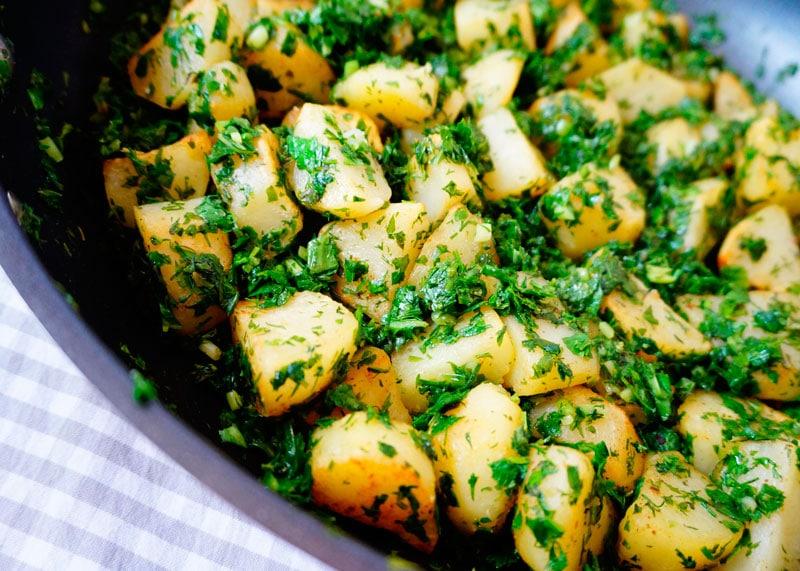 Жареный картофель с заправкой персилад рецепт фото