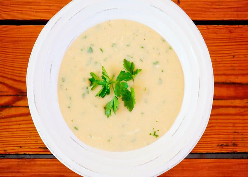Чесночно-фасолевый суп рецепт фото