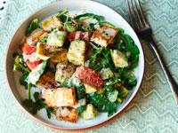 Салат с крутонами фото