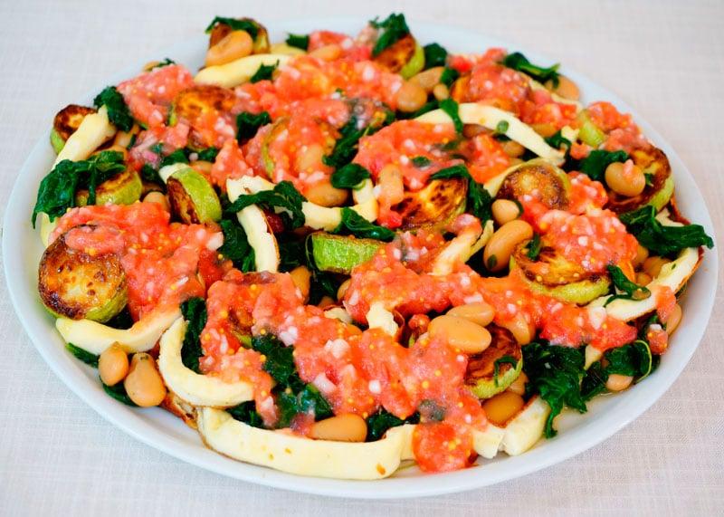 Холодный салат из белой фасоли рецепт фото
