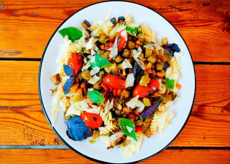 Фузилли с овощами рецепт фото