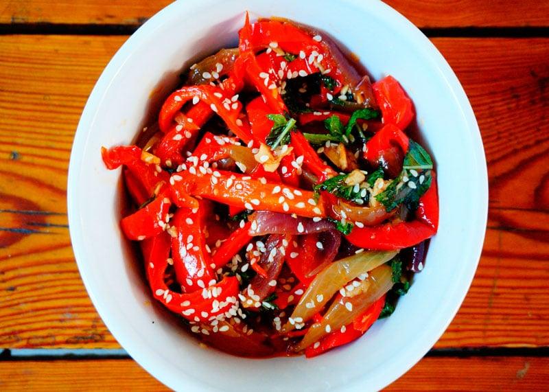Антипасто из маринованных перцев рецепт фото
