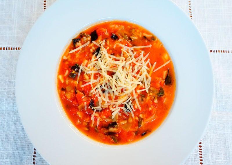 Томатный суп с рисом рецепт фото