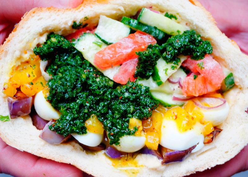 Сэндвич сабих фото
